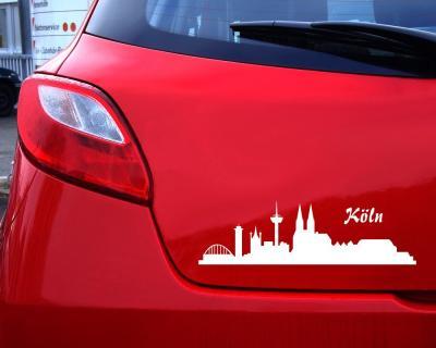 Stadtaufkleber Köln Autoaufkleber Collage Skyline4u