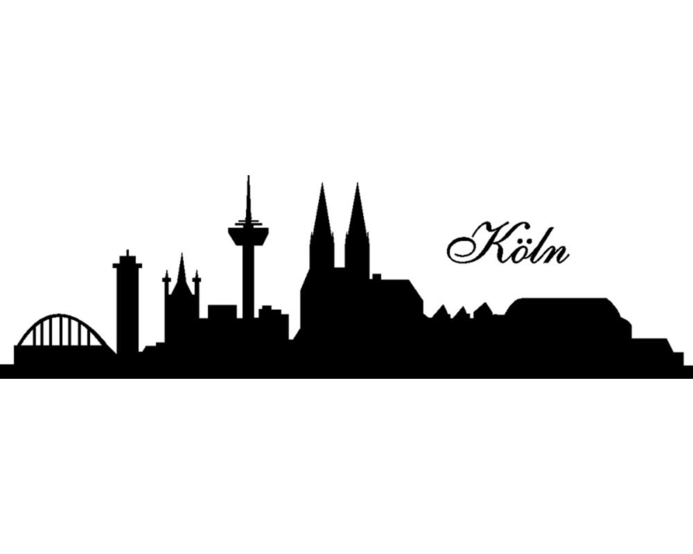 Wandtattoo Stadt Köln Wandsticker  skyline4u