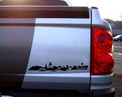 Aufkleber Bochum Skyline Mit Sehenswürdigkeiten Skyline4u