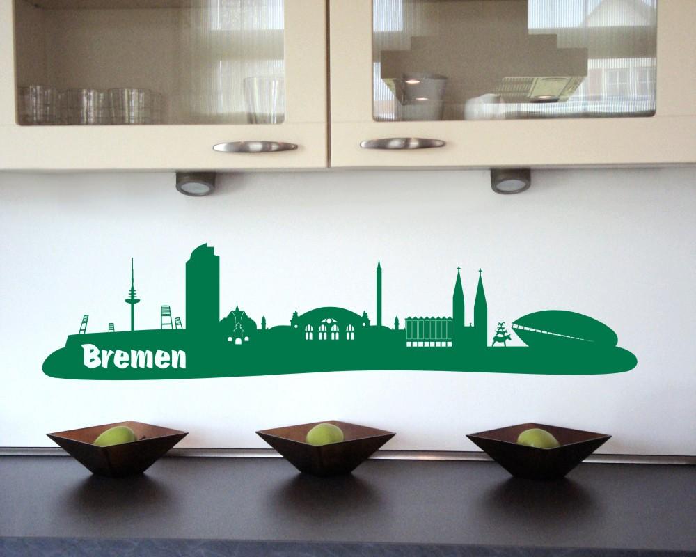 bremen wandtattoo skyline mit sehensw rdigkeiten ebay. Black Bedroom Furniture Sets. Home Design Ideas