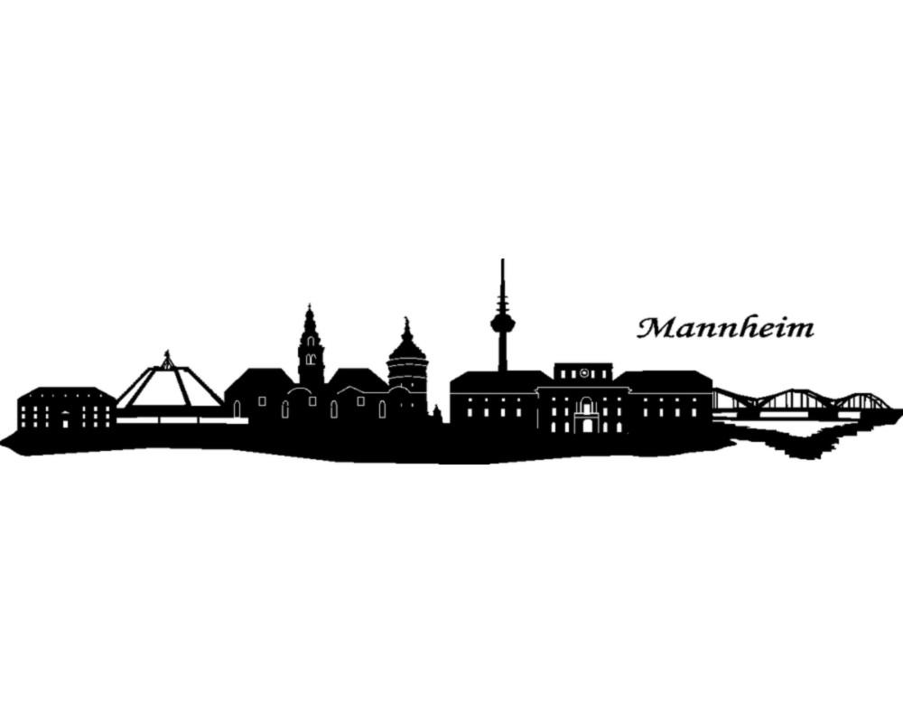mannheim wandtattoo skyline wandtattoo ebay. Black Bedroom Furniture Sets. Home Design Ideas