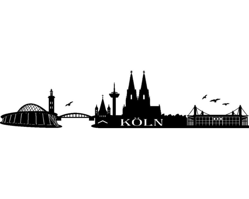 Verschiedene Wandtattoo Köln Beste Wahl Köln Skyline Wandaufkleber