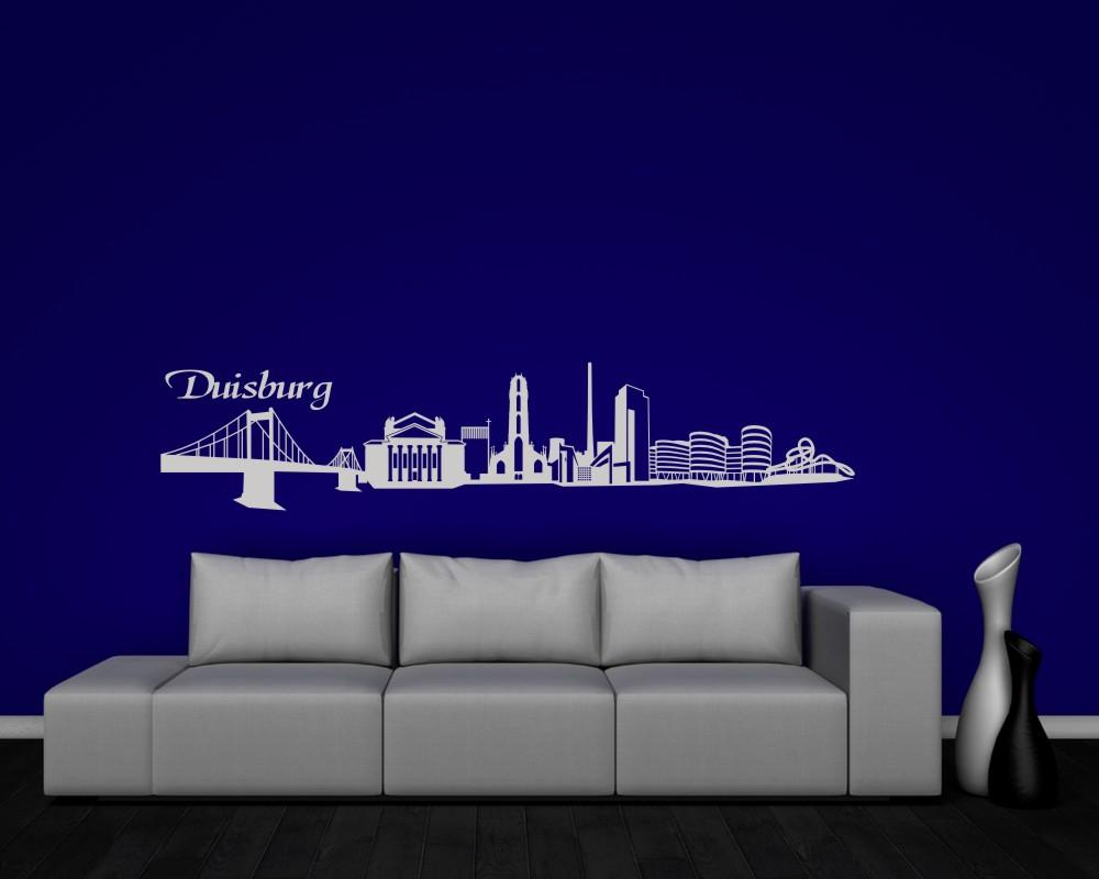 wandtattoo duisburg mit sehensw rdigkeiten ebay. Black Bedroom Furniture Sets. Home Design Ideas