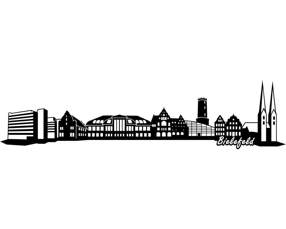 wandtattoo stadt bielefeld wandaufkleber skyline4u. Black Bedroom Furniture Sets. Home Design Ideas