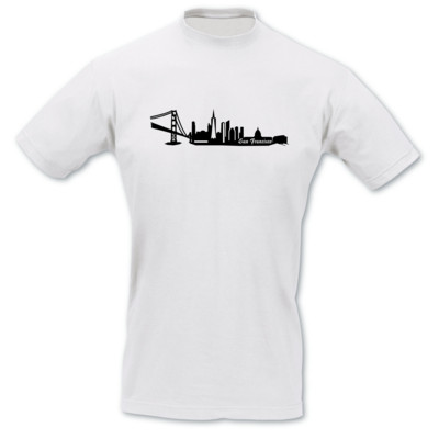 San Francisco Skyline Collage T-Shirt