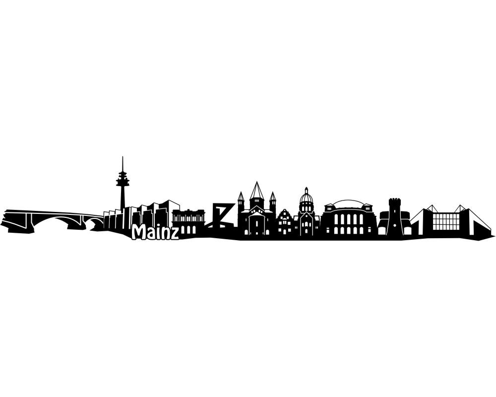 Erfurt Wandtattoo Skyline mit Sehenswürdigkeiten