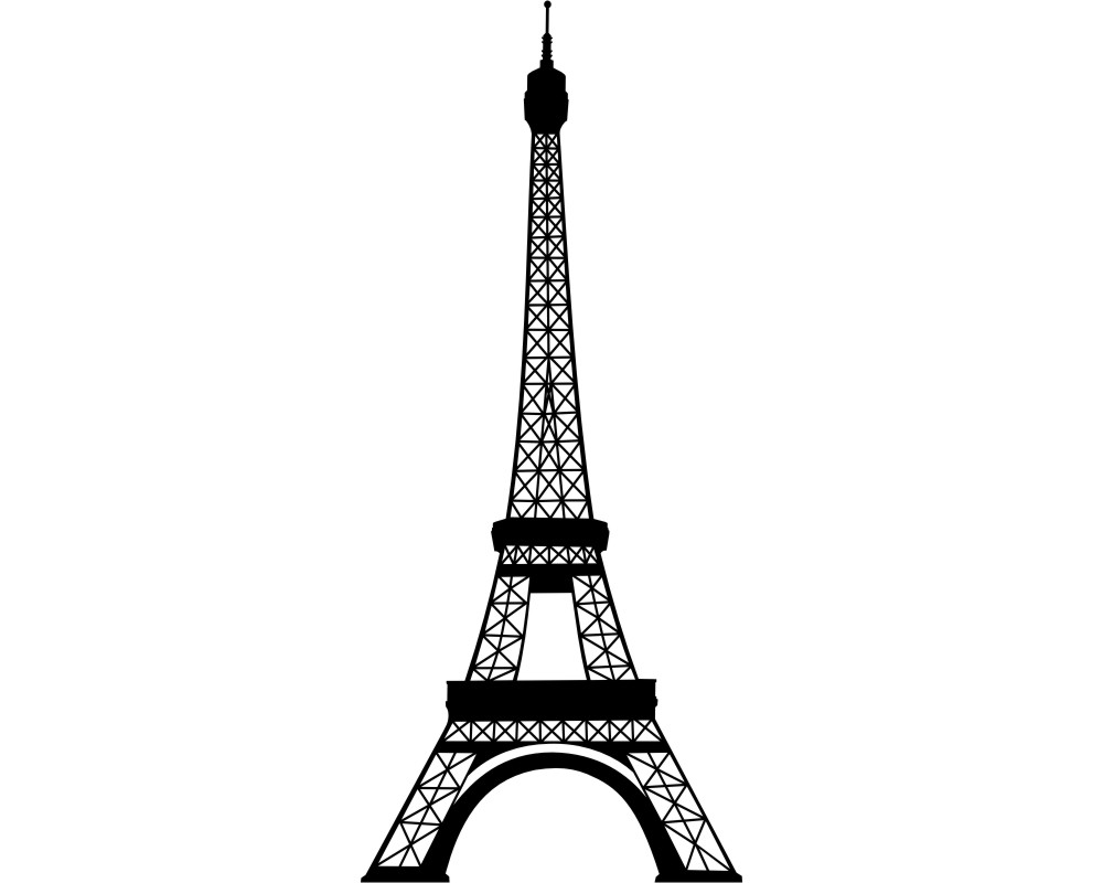 eiffelturm wandtattoo wahrzeichen wandaufkleber paris skyline4u. Black Bedroom Furniture Sets. Home Design Ideas