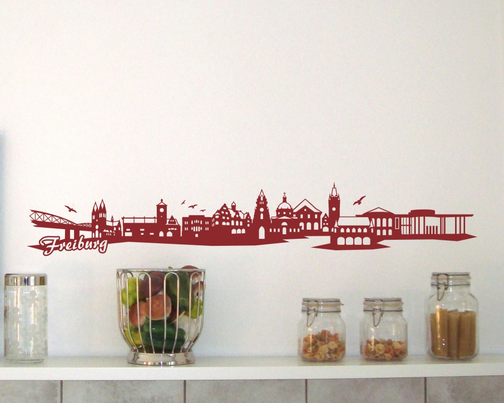 freiburg wandtattoo skyline wandtattoo ebay. Black Bedroom Furniture Sets. Home Design Ideas