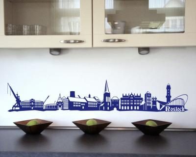 Wandtattoo Rostock rostock wandtattoo stadt collage rostock wandsticker skyline4u
