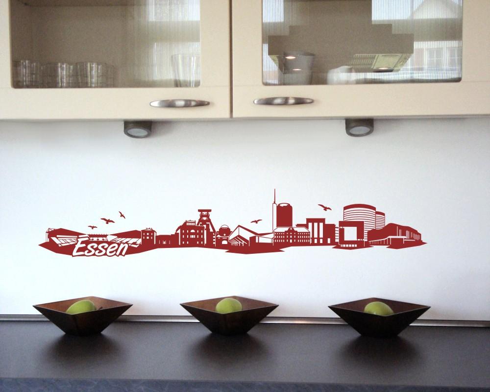 essen wandtattoo skyline viele farben ebay. Black Bedroom Furniture Sets. Home Design Ideas