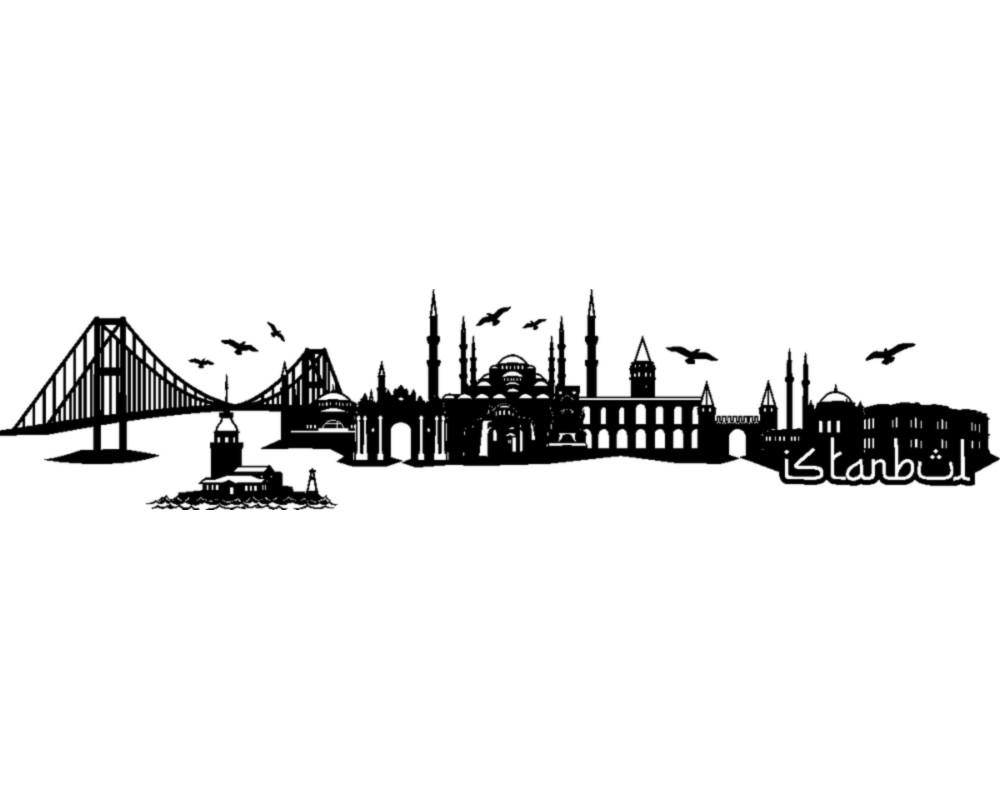 wandtattoo istanbul skyline mehrere gr en skyline4u. Black Bedroom Furniture Sets. Home Design Ideas