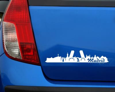 Madrid Skyline Sticker Aufkleber