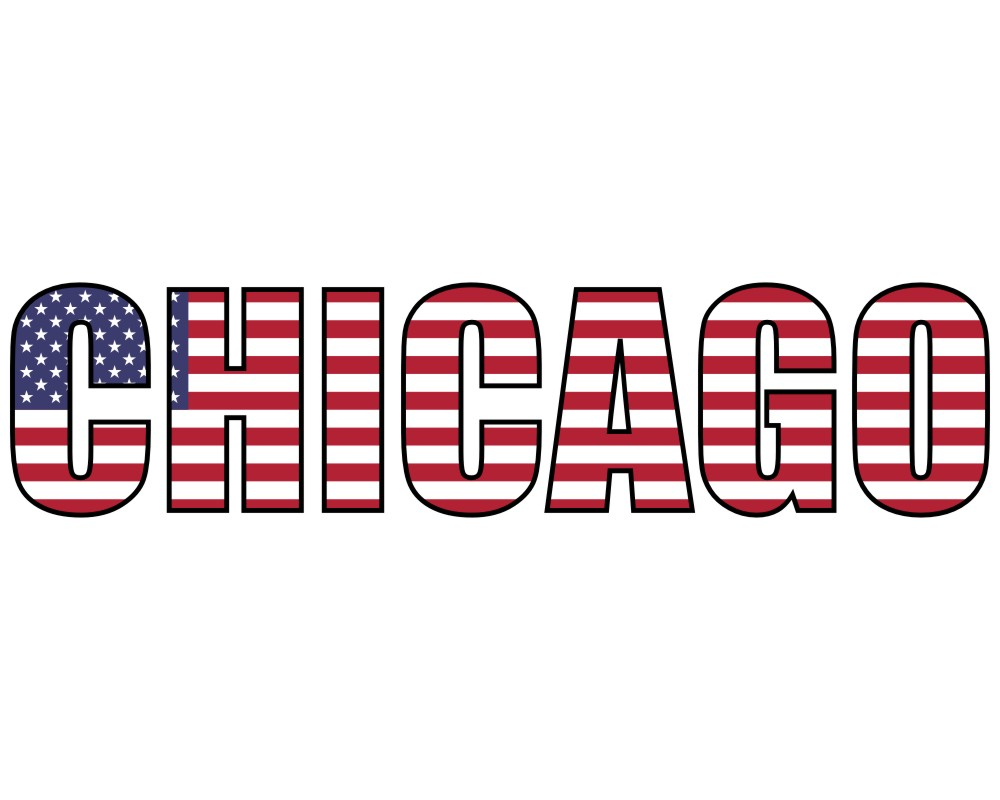 Chicago Schriftzug Autoaufkleber USA - skyline4u