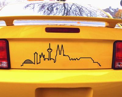 Skyline Silhouette Köln Aufkleber Für Auto Oder Wohnmobil
