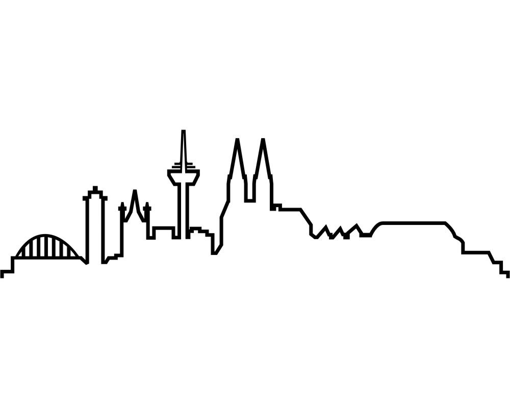 Entzückend Wandtattoo Köln Sammlung Von Köln Skyline Silhouette