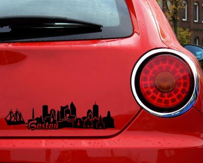 Boston Skyline Sticker Aufkleber