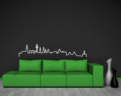 hamburg skyline silhouette wandtattoo skyline4u. Black Bedroom Furniture Sets. Home Design Ideas