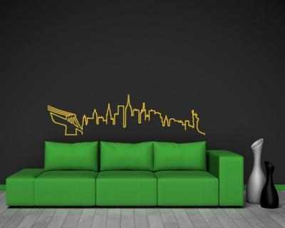 New York Skyline Silhouette Wandtattoo
