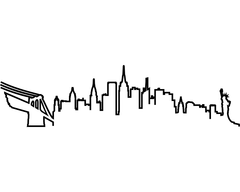 Cool New York Wandtattoo Galerie Von Skyline Silhouette